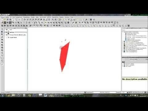 Creacion de poligono, usando autoensamblado (snap), y calculo de area en Quantum GIS (QGIS) - YouTube