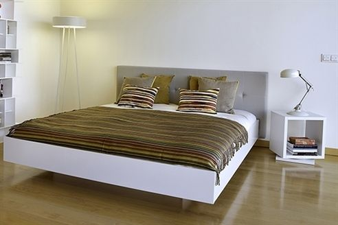 Moschino Bed Frame White and Grey
