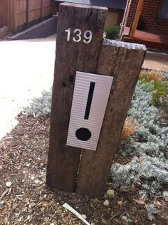 corten steel house number sleeper recycled - Google Search