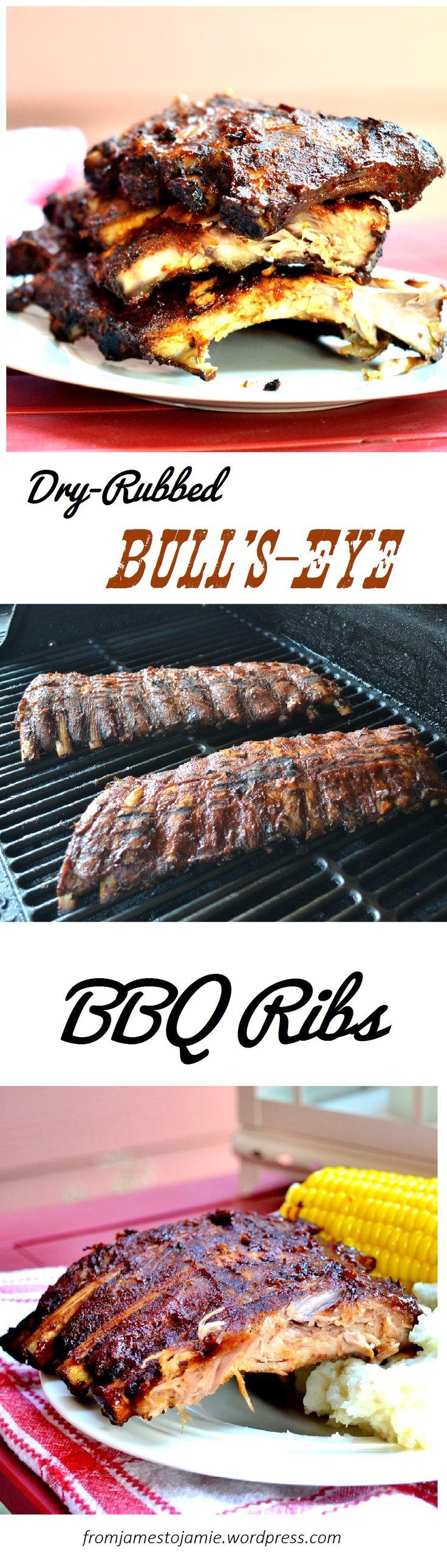 Dry-Rubbed Bull's-Eye BBQ Ribs