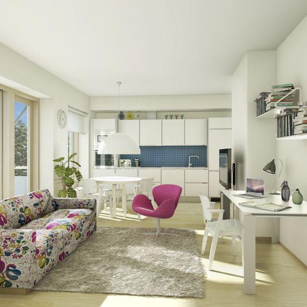 Scandinavian design living area interior