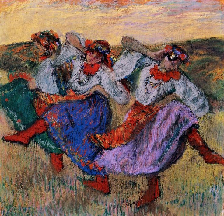 'Russian Dancers' (ca. 1899) by Edgar Degas