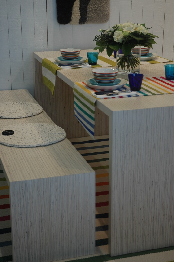"""Pielinen"" table and benches by Homecrafts"