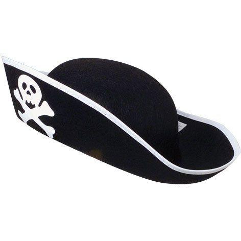 Felt Pirate hat US Toy http://www.amazon.com/dp/B00362KY7I/ref=cm_sw_r_pi_dp_bHUkub1P7CW60