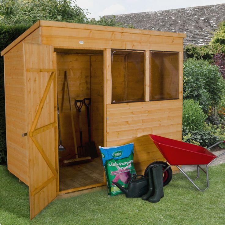 Forest Garden Shiplap Wooden Pent Garden Shed - 7' x 5' | Internet Gardener