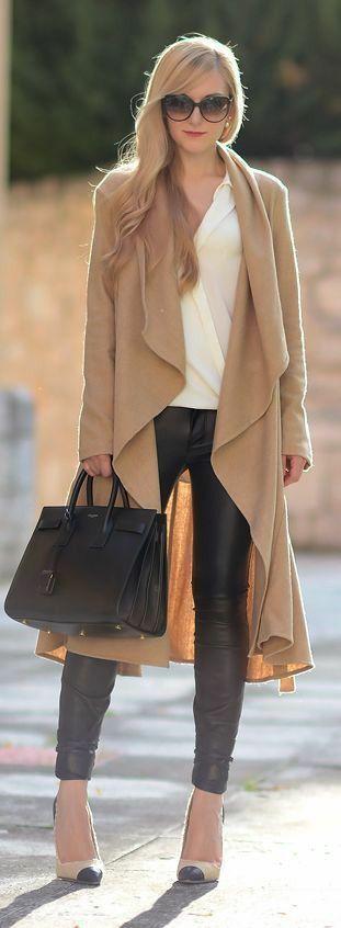Black leather pants... I love it! <3