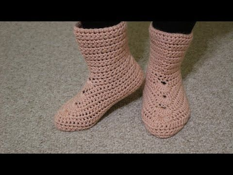 bota tejIda para dama. crochet. zapatos tejidos. - YouTube