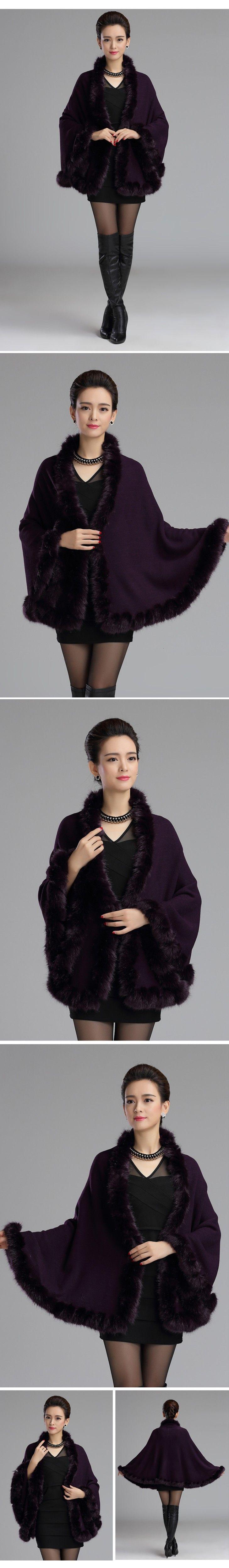 Женщины Искусственного Меха Свитер Пальто И Пиджаки Новый 2015 Зима Летучая Мышь…