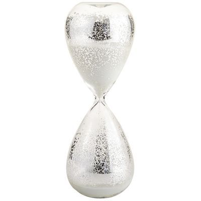Antiqued Hour Glass , mercury finish hour glass, what is old is new again...thirty dollars at Pier One