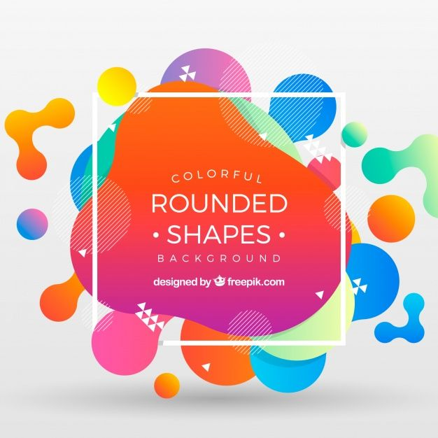 Download Abstract Background With Rounded Shapes For Free