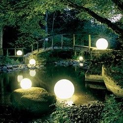 Awesome outdoor lighting, would be great around the pond