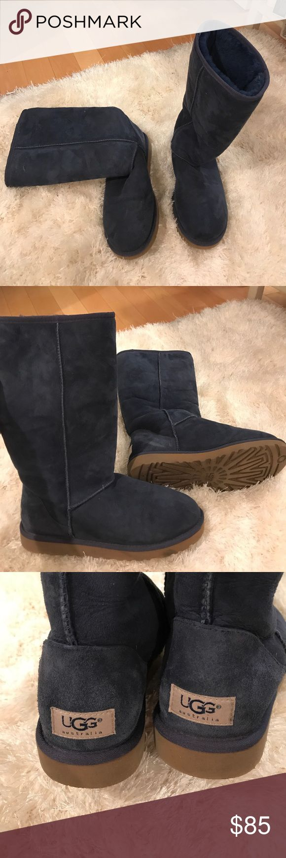 Tall navy blue uggs Tall navy blue uggs. Very good condition UGG Shoes Winter & Rain Boots