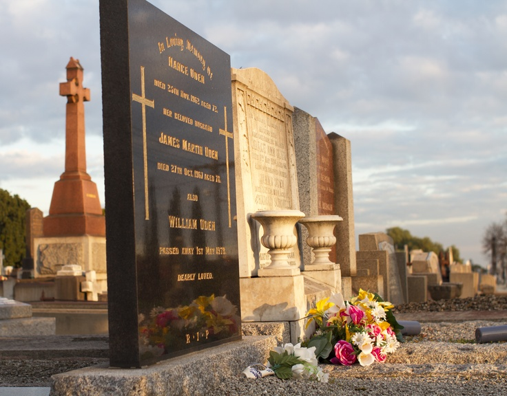 Tombstones are available in different styles and colours. #slowdown