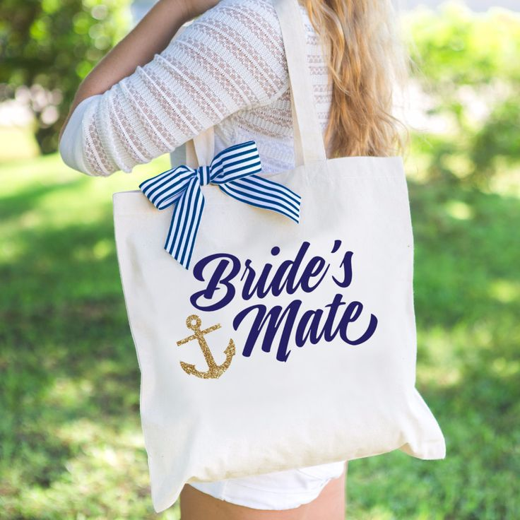 "Nautical Bridesmaid ""Bride's Mate"" Tote Bag"
