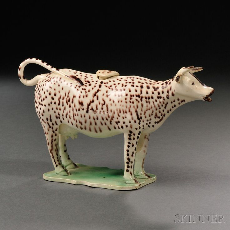 Staffordshire Cream Colored Earthenware Cow Creamer | Sale Number 2663B,  Lot Number 1101 |