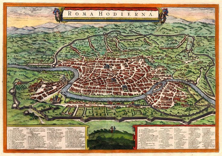 Antique map of Roma by Janssonius J. | Sanderus Antique Maps