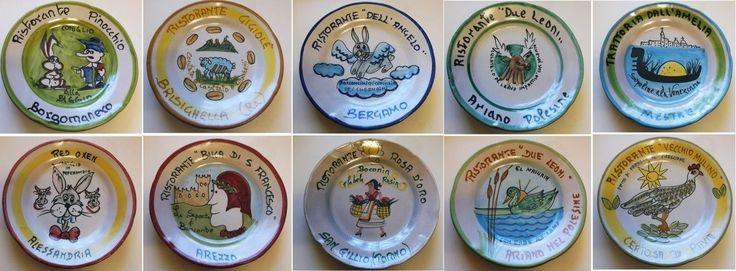 Piatti del buon ricordo - anni 70 / 80 / 90 - lotto 10 piatti 13B - Piatti decorativi Ceramica Solimene Vietri - Italia di Piattidelbuonricordo su Etsy