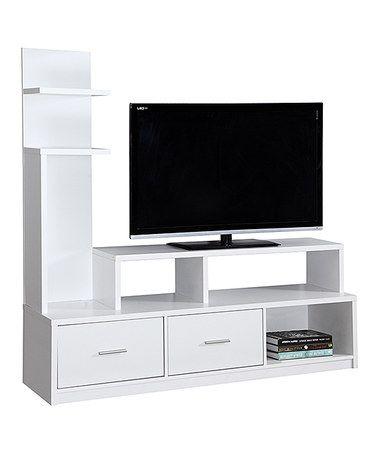 Look what I found on #zulily! White TV Stand & Display Tower #zulilyfinds