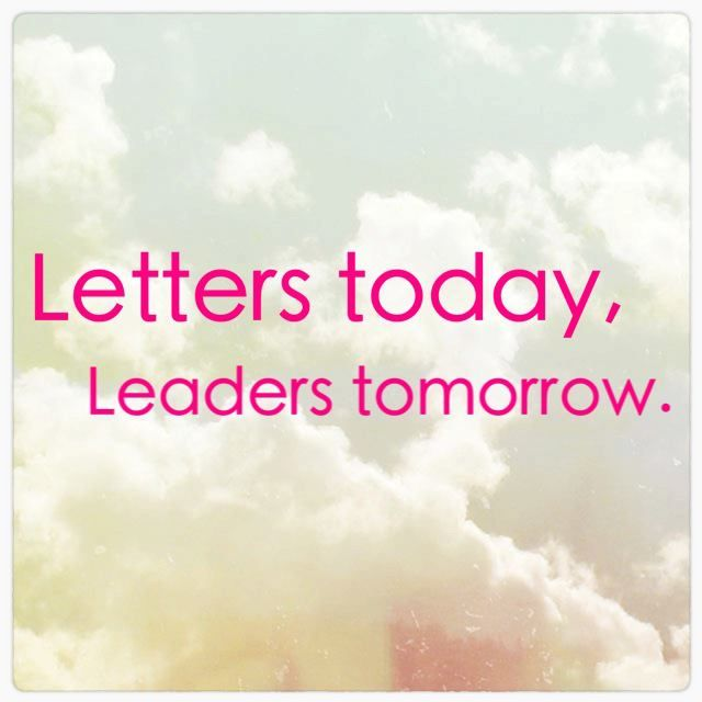 """Letters today, leaders tomorrow."" #AKA"