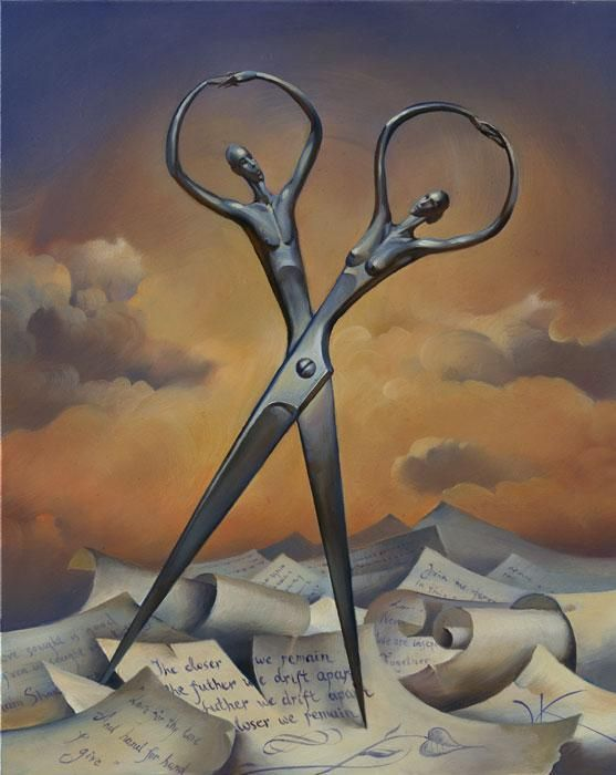 This painting by Vladimir Kush captures the essence of desire evident in Surrealist art, and also pairs this desire with the relationship between man and object. The work presents thoughts and needs of the unconscious mind, as referred to in the lecture.
