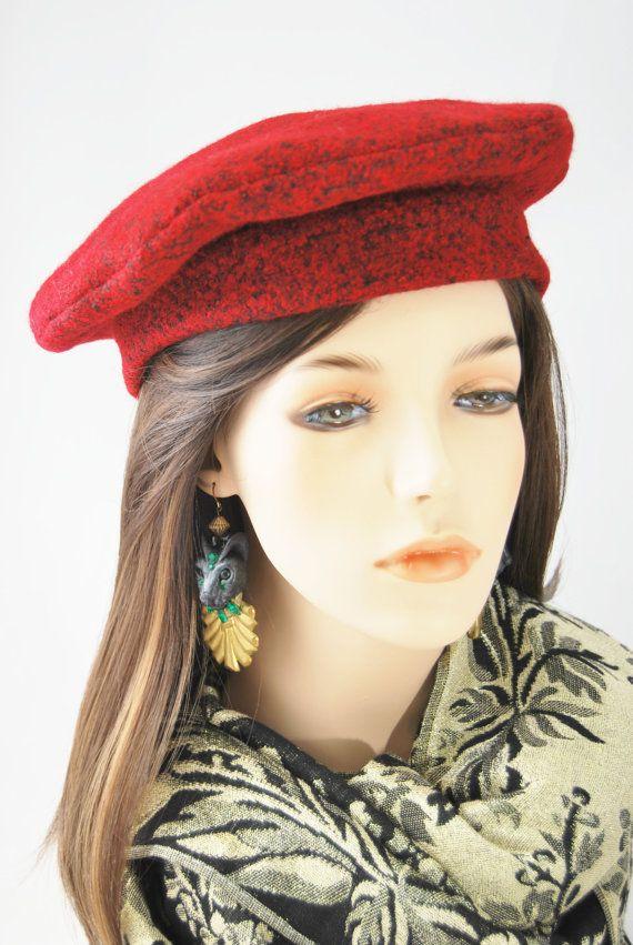 Fine Red Wool Beret