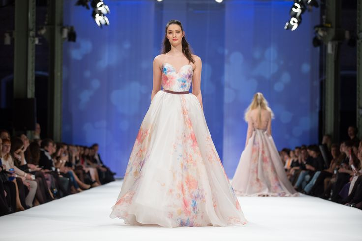Dalarna Couture Pearl collection flower printed organza wedding gown