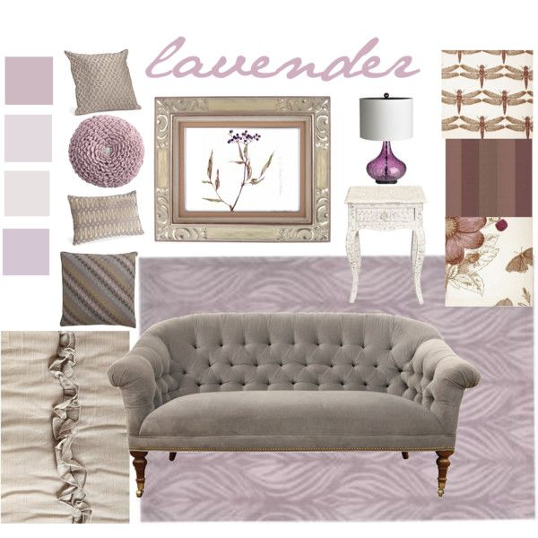 Paired With Gray Or Taupe Lavender Can Create Lovely