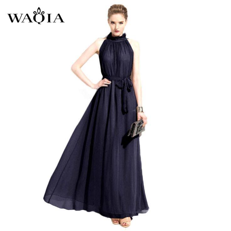 Summer Style 2017 New Fashion Women Dress Elegant Sexy Dress Chiffon Summer Dress Perfect Maxi Dress Nymph Neck Collar