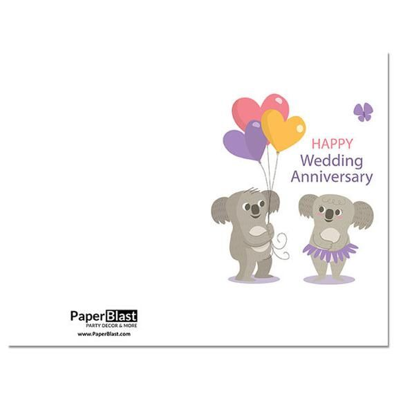 Koala Love Wedding Anniversary Card With Custom Handwritten Message Mailed To Your Re Wedding Anniversary Cards 90th Birthday Banner Personalized Banners