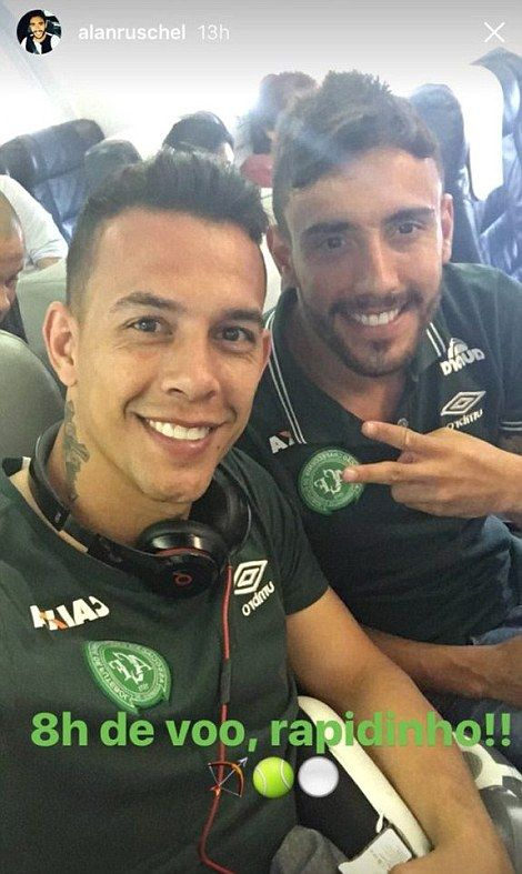 Defender Alan Ruschel(astro snake), 27, and goalkeepers Jakson Follmann and Danilo, are reported to be among just six survivors from the crash after being pulled alive from the wreckage https://en.wikipedia.org/wiki/LaMia_Airlines_Flight_2933 http://www.dailymail.co.uk/news/article-3980974/Plane-carrying-72-passengers-including-Brazilian-football-team-crashes-Colombia-reports-say.html…