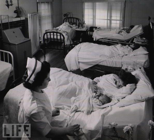 Maternity Ward in a country hospital, 1948.History, Country Doctors, Medical Nursing, Maternity Ward, Nursing Med, Country Hospitals, Delivery Room 1948, Vintage Labor Nurses, Eugene Smith