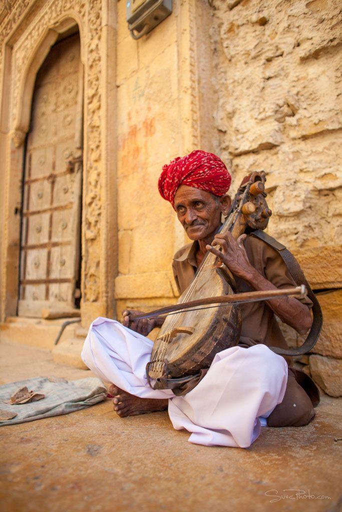 Rajasthani music man, India