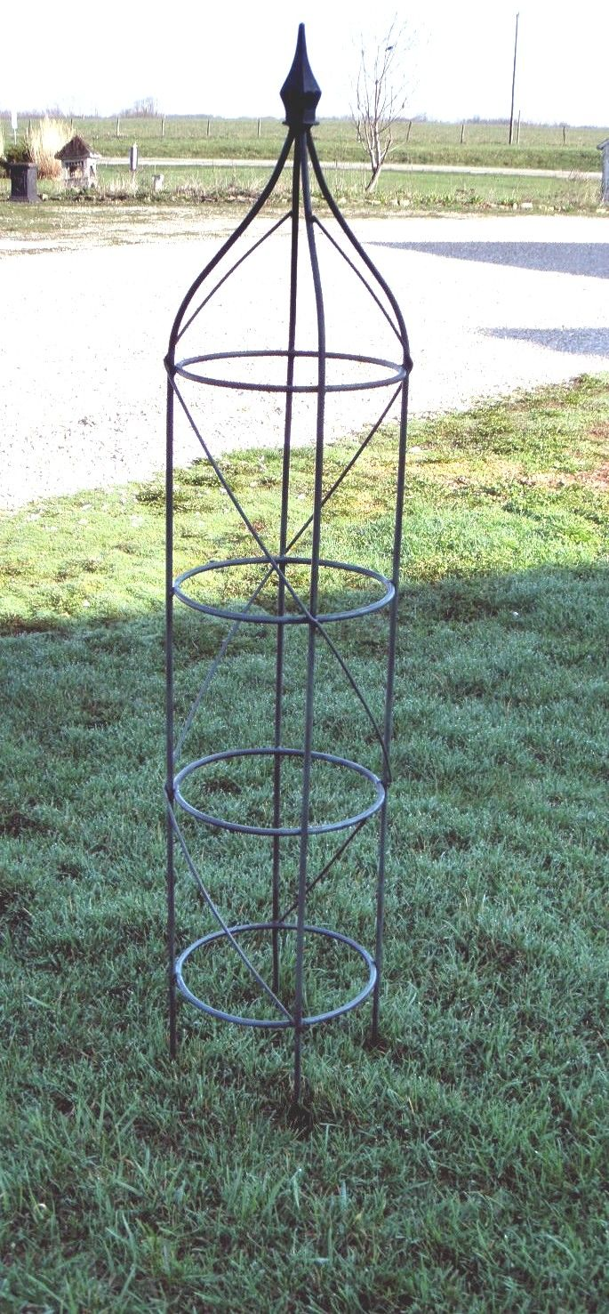 Wrought Iron Rose Trellis Plant Support - Sets