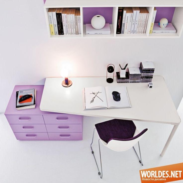 Коллекция письменных столов для детей. Дизайн мебели для детской комнаты фото 6