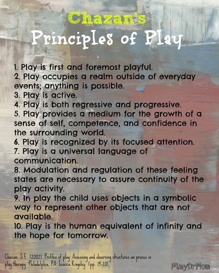 Principles of Play: from Chazan - Play Dr Mom