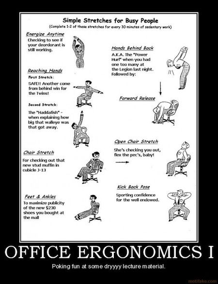 ergonomics and good work habits Ergonomics and the remote worker, part  the pros and cons of working remotely for a good portion of  over their computer is literally modeled on my current work.