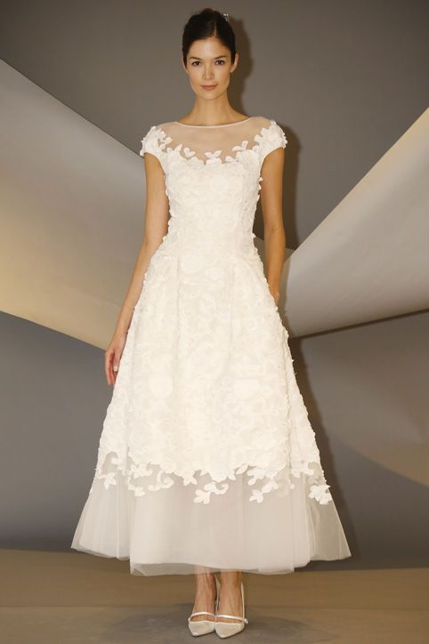 Love this tea length Carolina Herrera dress