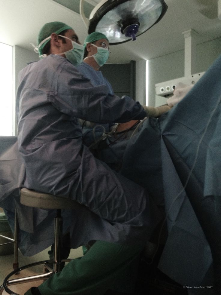 Cirugía laparoscópica.