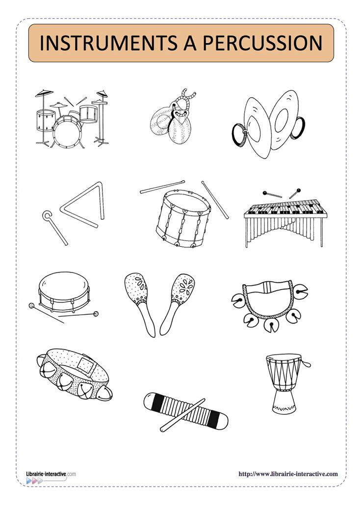imagier thématique des instruments de musique