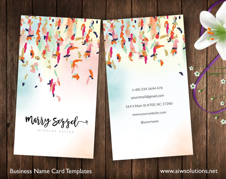 name card Abtract art, color name card, calling card, business card