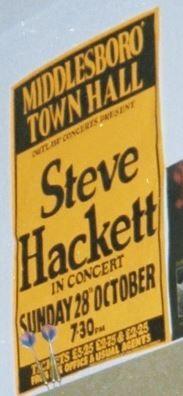 Steve Hackett [28 Oct 1979] Middlesbrough Town Hall poster