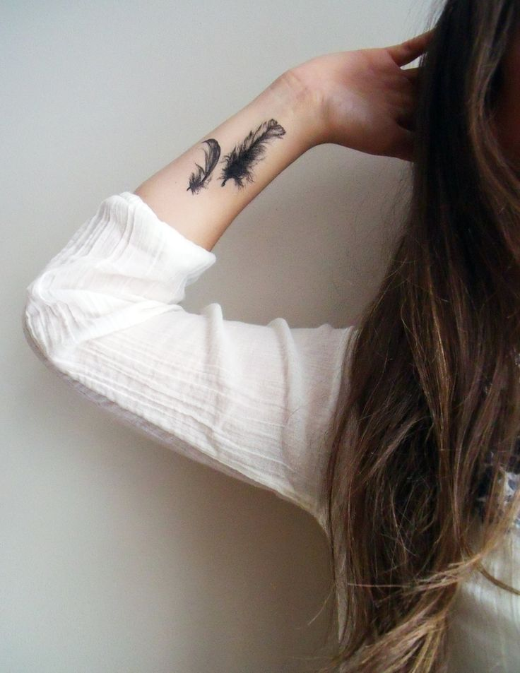 Temporary Feathers Tattoo | Burrowing Home on Etsy