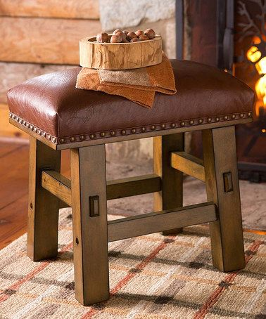 Look what I found on #zulily! Leather Footstool #zulilyfinds