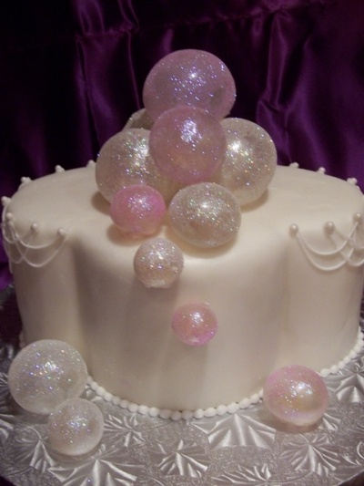 Gelatin Bubble Anniversary Cake By sweetflowers on CakeCentral.com
