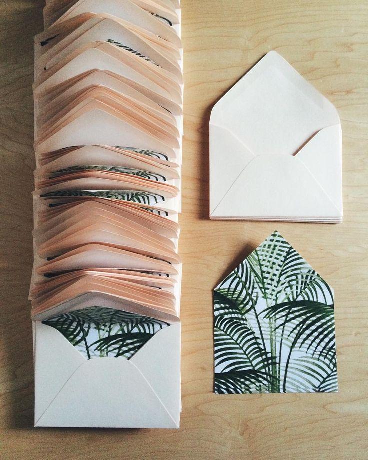 palm liners & blush envelopes / paper & type.