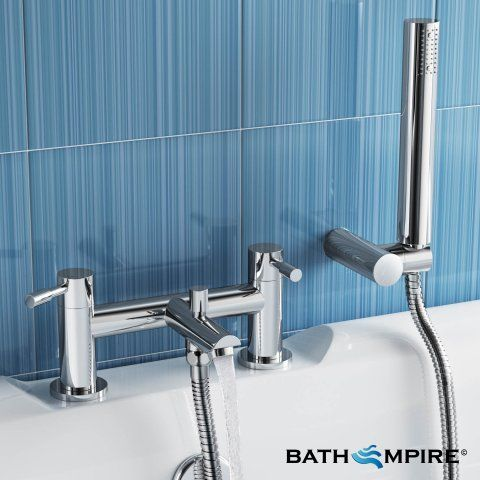 Bath Mixer Tap with Shower | Gladstone Bath Tap - BathEmpire