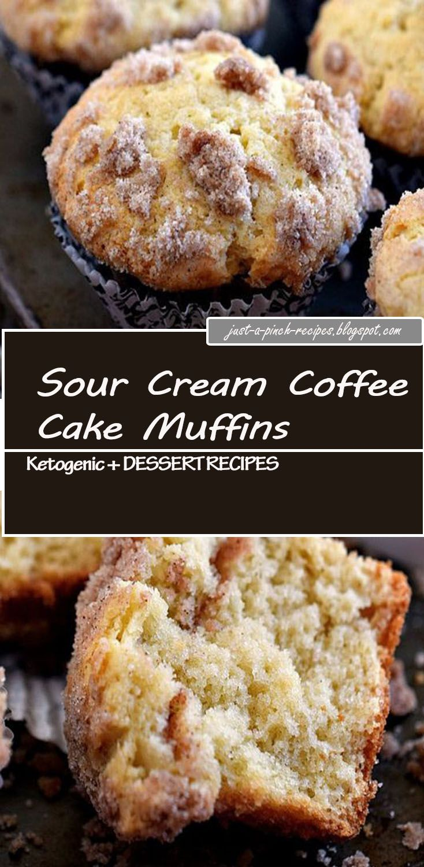 Sour Cream Coffee Cake Muffins Coffee cake muffins, Sour