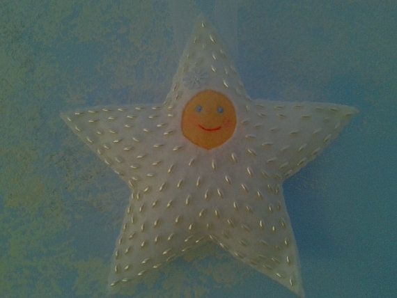 Sweet Star Baby Seed Pearl Beaded Felt by EnchantedForestCraft, $16.00