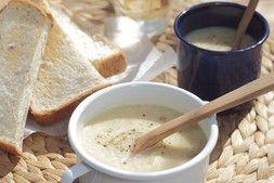 残り野菜のポタージュスープ&バゲット   ズバうま!おつまみレシピ アサヒビール