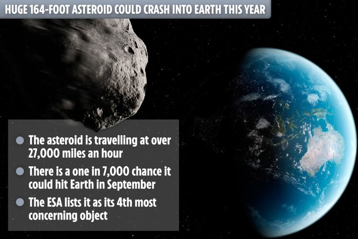 Huge 164-foot asteroid could crash into Earth THIS YEAR at 27,400mph and 'flatten area bigger…